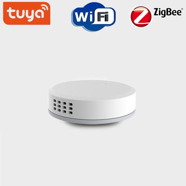 ZigBee Mini Temperature Sensor Air Pressure Humidity Environment Sensor Tuya Smart control Home Building Automation