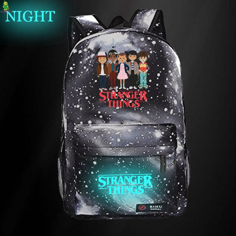 Stranger Things Galaxy Space Backpack Luminous School Bags For Teenage Girls Boys Travel Rucksack Kids Daily Book Bags
