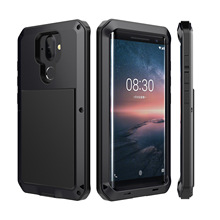 Hybrid Tank 360 Full Protection Case For Nokia 8 Sirocco Aluminum Metal Silicone Shockproof Protection Case Cover wierss золото для nokia 8 sirocco