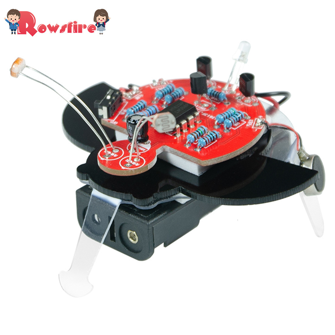 Maker DIY Fireworm Glowworm STEAM Photographic Robot Educational Kit With BLN And Photo Resistor