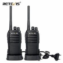 Walkie talkie áspero 2 pces retevis rt21 2.5w 1 3km vox scrambler acessível conjunto de walkie talkies para o armazém do local de construção da fábrica