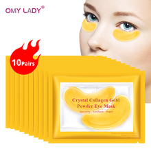 OMY LADY 1pair Gold Masks Crystal Collagen Eye Mask  Anti-Wrinkle Eye Patches For The Eye Face Mask Remove Black Eye Care