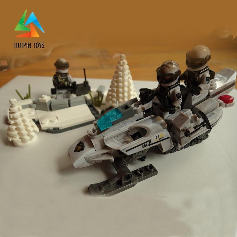 290Pcs XINGBAO Building Blocks XB-06009 Across The Battlefield:Extreme Snowmobiling Model Children Toys Bricks 4Px To DE