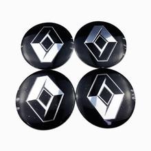 For Renault Captur Megane 2 3 Duster Clio laguna Fluence Talisman Car Wheel Center Hub Sticker Auto Accessories Emblem Decal