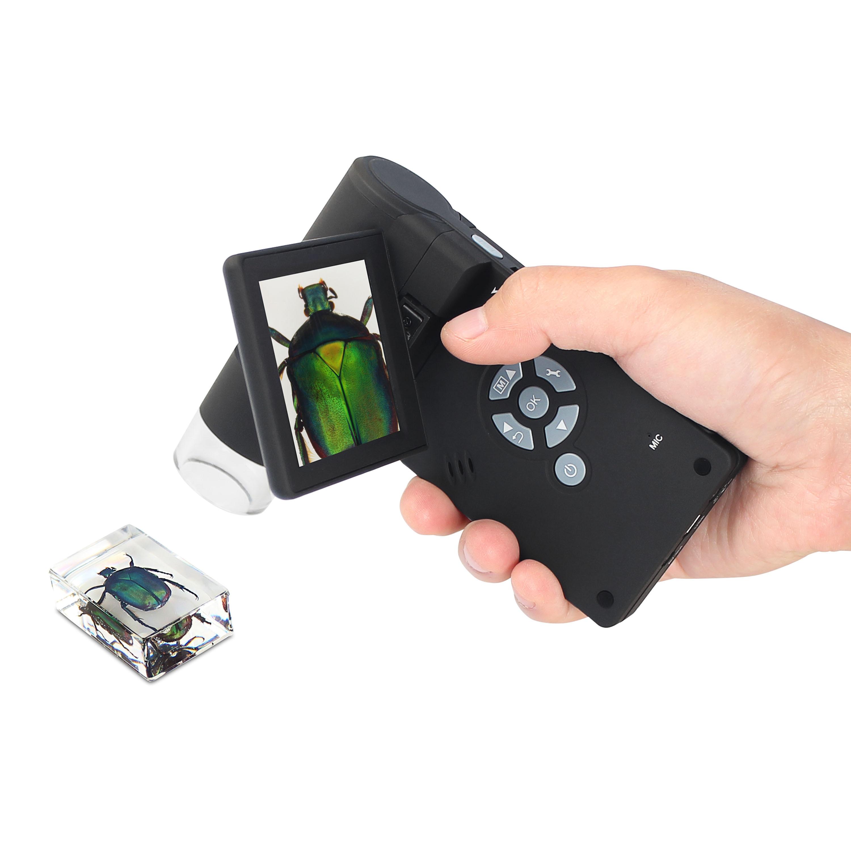 5 м портативный мобильный ЖК цифровой микроскоп 8 светодиодный 200X-500x цифровым увеличением 8G Micro-SD фото и видеосъемка