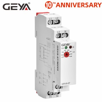 цена на Free Shipping GEYA GRV8-07 Power Protection Relay 3 Phase Voltage Monitor Phase Sequence Control Relays