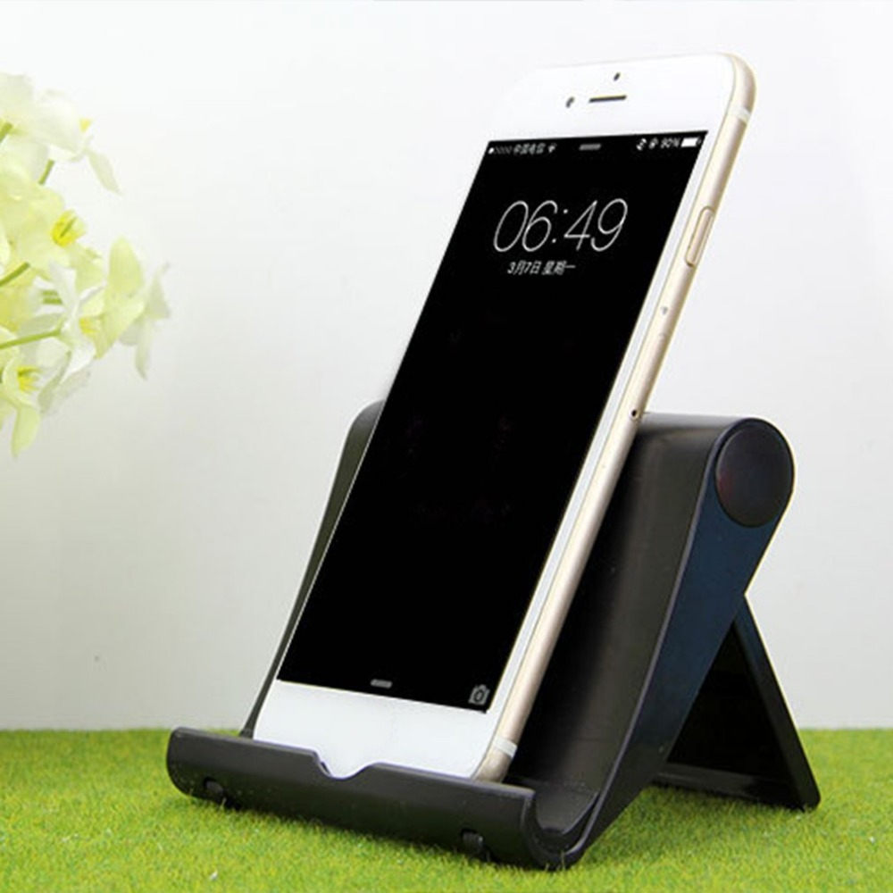 Foldable Galaxy Tab iPad Pro 10.5 Fintie Universal Tablet Cell Phone Stand - Samsung S8 and more Multi Angle Portable Desktop Holder for 4-10 Smartphones and Tablets iPad 9.7 Black iPhone X