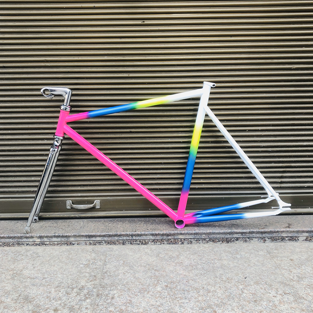fixie <font><b>bike</b></font> <font><b>frame</b></font> road <font><b>bike</b></font> <font><b>frame</b></font> 700 C <font><b>frame</b></font> 56 cm 4130 Chrome molybdenum <font><b>steel</b></font> road Bicycle <font><b>frame</b></font> stem headset promotion image