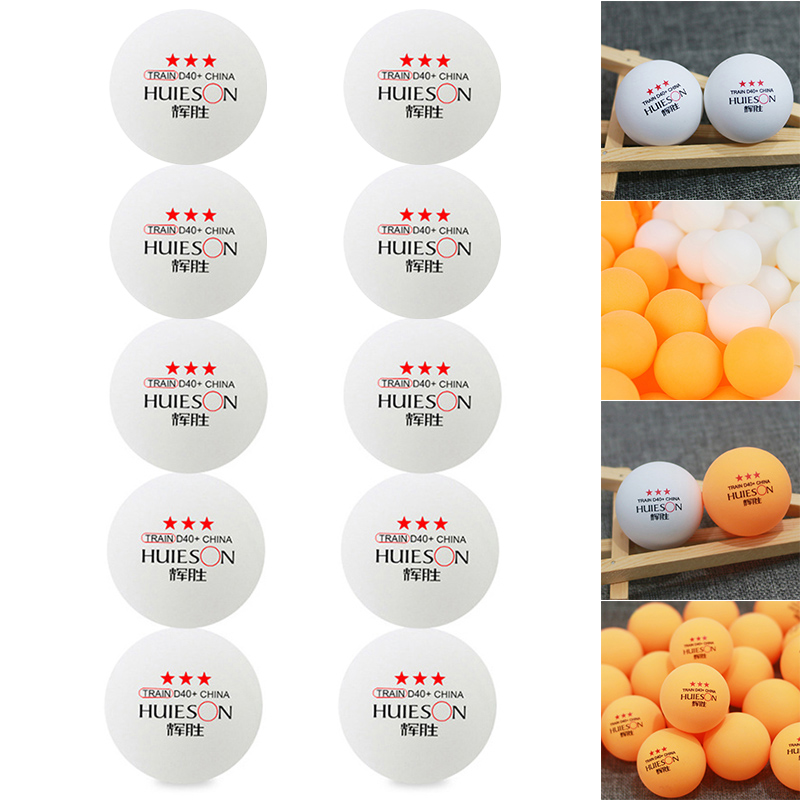 Newly 10pcs PingPong Table Tennis Balls Professional For Training Competition Sports Use