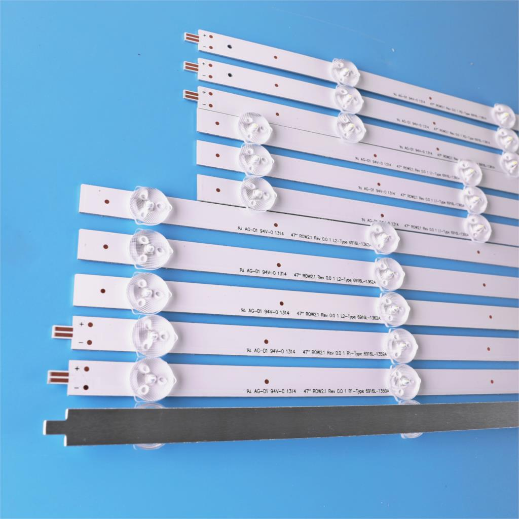 Image 3 - 12pcs x 47 LED Backlight Strips for LG 47 TV 47LN5200 LG47LP360