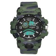 2019 New Military Watch Waterproof Wristwatch LED Digital Clock Sport Watch Male relogios masculino Sport Watch Men Shock цена и фото