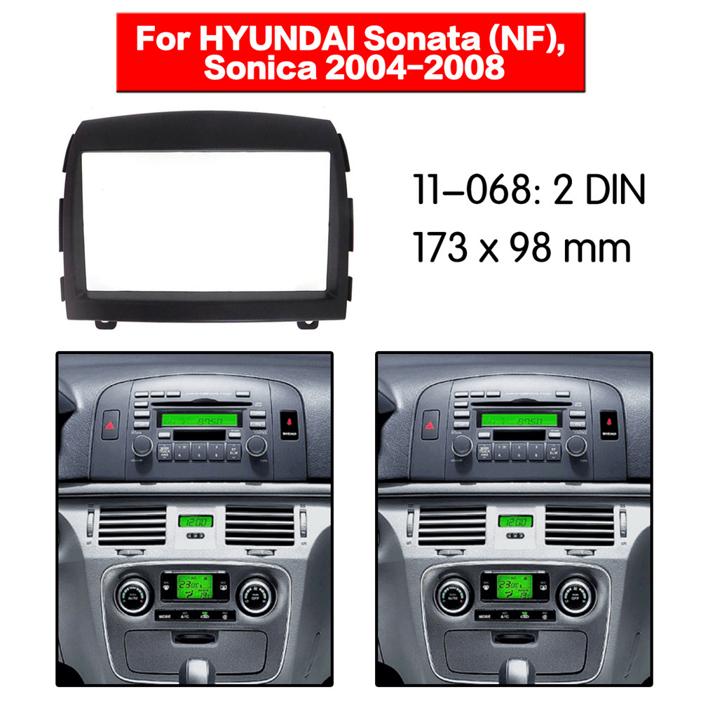 Car Radio Stereo Double DIN Install Dash Kit for 2004-2008 Chrysler Dodge Jeep