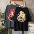 Alice Im Wunderland T Shirt Frauen Baumwolle Tops Schwarz Alice Schnee Weiß Prinzessin Drucken Casual Kurzarm 90s Vogue t-shirt Femme