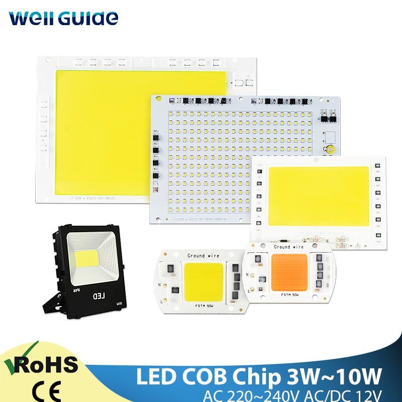COB Chip 5W~100W AC 220V Integrated LED Lamp Chip 50W 30W 20W 10W Smart IC Driver LED Bulb Lamp For Flood Light Spotlight Diy