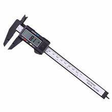 Neue 150mm 6 zoll sattel Digitale Elektronische digitale pachometer Carbon Faser Messschieber Gauge Mikrometer Mess Werkzeuge