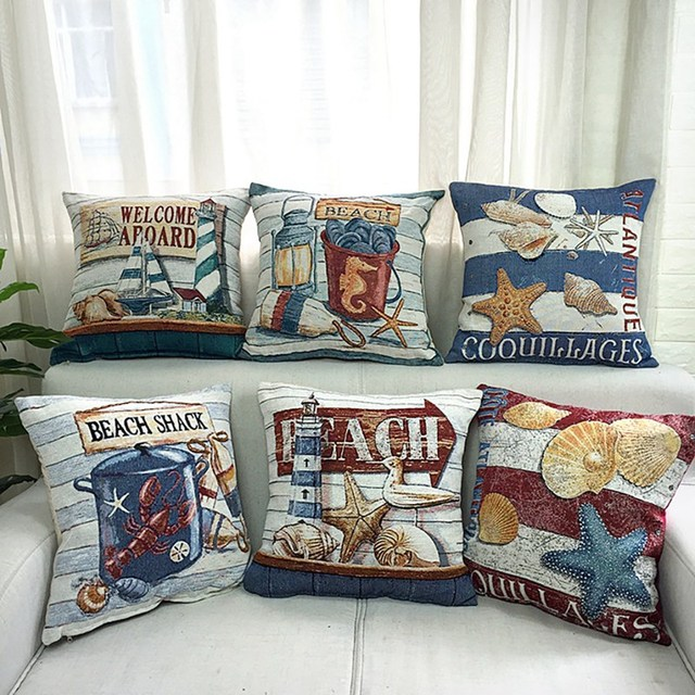 Beach House cushion Cover 6