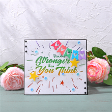Eastshape You Are Stronger Than You Think Word Metal Cutting Dies New for Scrapbooking for Card Making Embossing Stencil Craft canaan mash don t give up you are stronger than you think