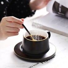Европейский стиль маленькая Роскошная кофейная чашка и блюдце