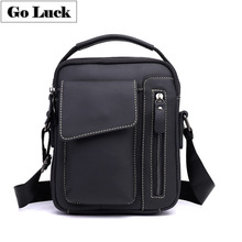 купить GO-LUCK Brand Genuine Leather Top-handle Handbag Tote Men Crossbody Shoulder Bag Men's Cowhide Messenger Bags Male Ipad Pack дешево