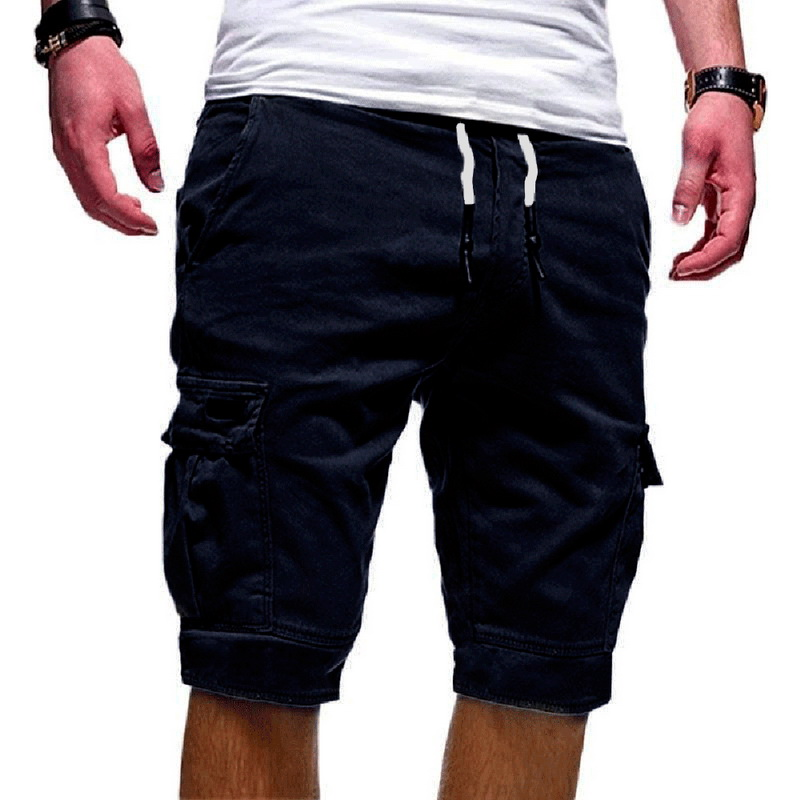 2020 Hot Summer Casual Shorts Men's  Cargo Multi-pocket Shorts Mens Solid Color Drawstring Fashion Shorts Streetwear