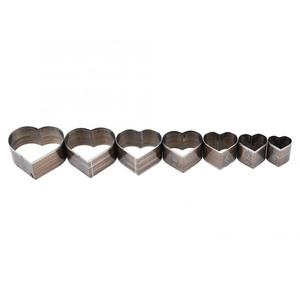 Image 5 - 7Pcs 20 50mm Heart Shaped  Leather Cutting Die DIY Leather Craft Cutting Mold DIY Steel Blade Circle Shaped Cutter Craft Die
