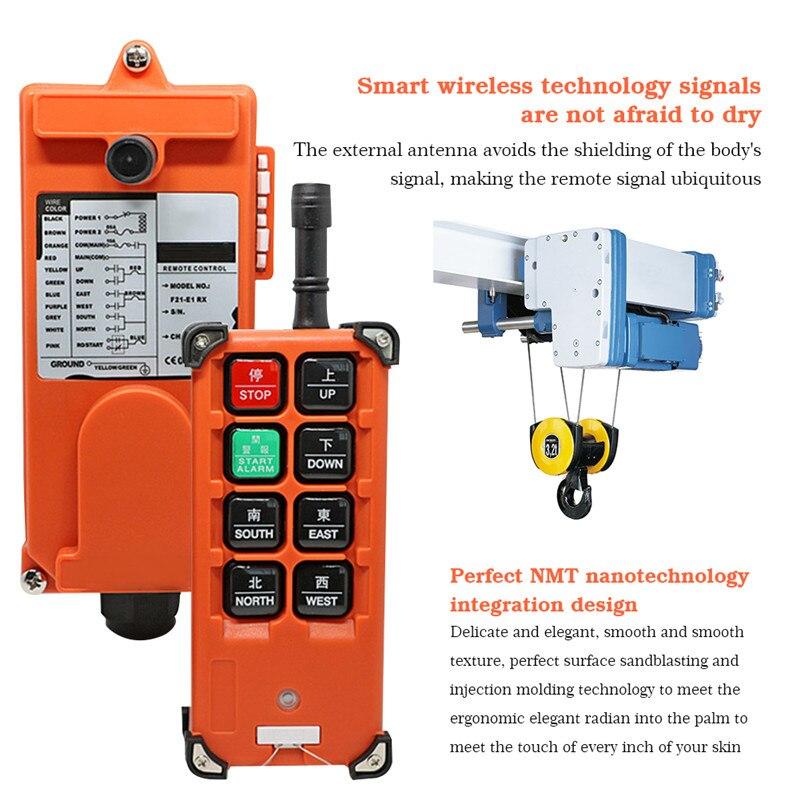 220V 380V 36V 24V Industrial Radio Wireless Remote Controller Hoist Crane Control Hoist Accessories Transmitter&Receiver