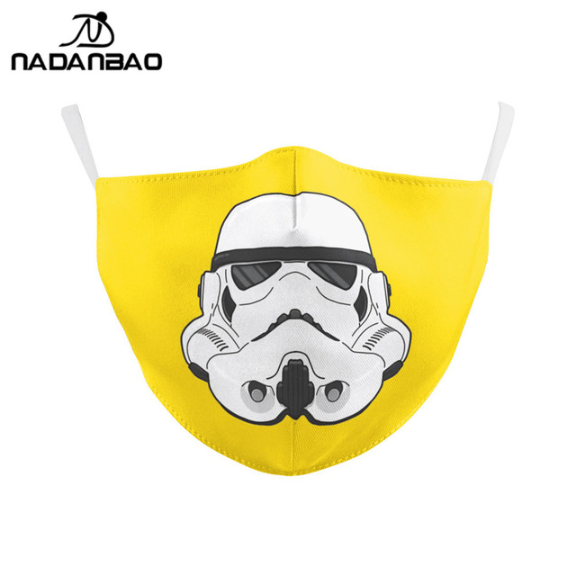 NADANBAO Adult Kid Star War Cosplay Print Face Mask Adult Kid Washable Masks Fabric Reusable PM2.5 Filters Dust Proof 1
