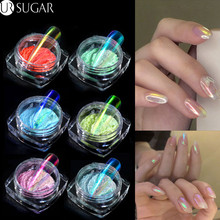 Ice Transparent Pearly Mirror Nail Glitter Powder Laser Glit