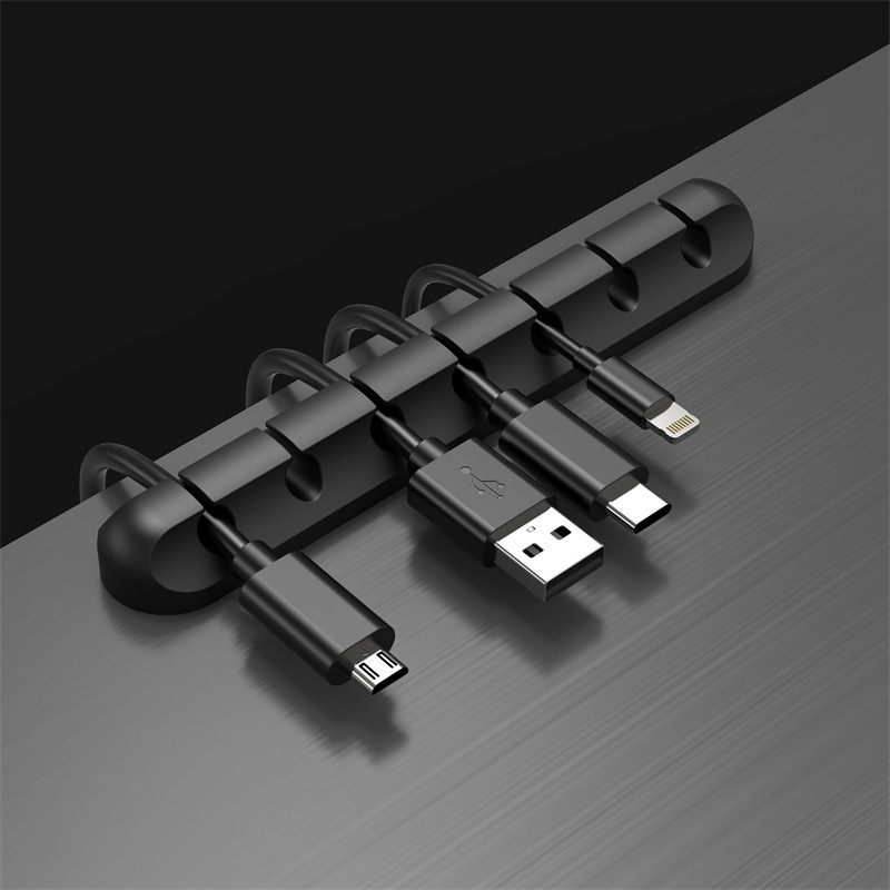 New Clip For Cable Organizer <font><b>Silicone</b></font> USB Cable Winder Flexible Cable Management Clips For Mouse Headphone <font><b>Earphone</b></font> Cable <font><b>Holder</b></font> image