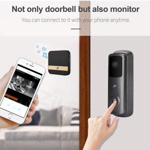 Image 5 - ZILNK sonnette de porte sans fil avec wi fi 1080P HD, interphone vidéo sans fil, caméra, moniteur pour maison intelligente, télécommande avec Vision nocturne infrarouge