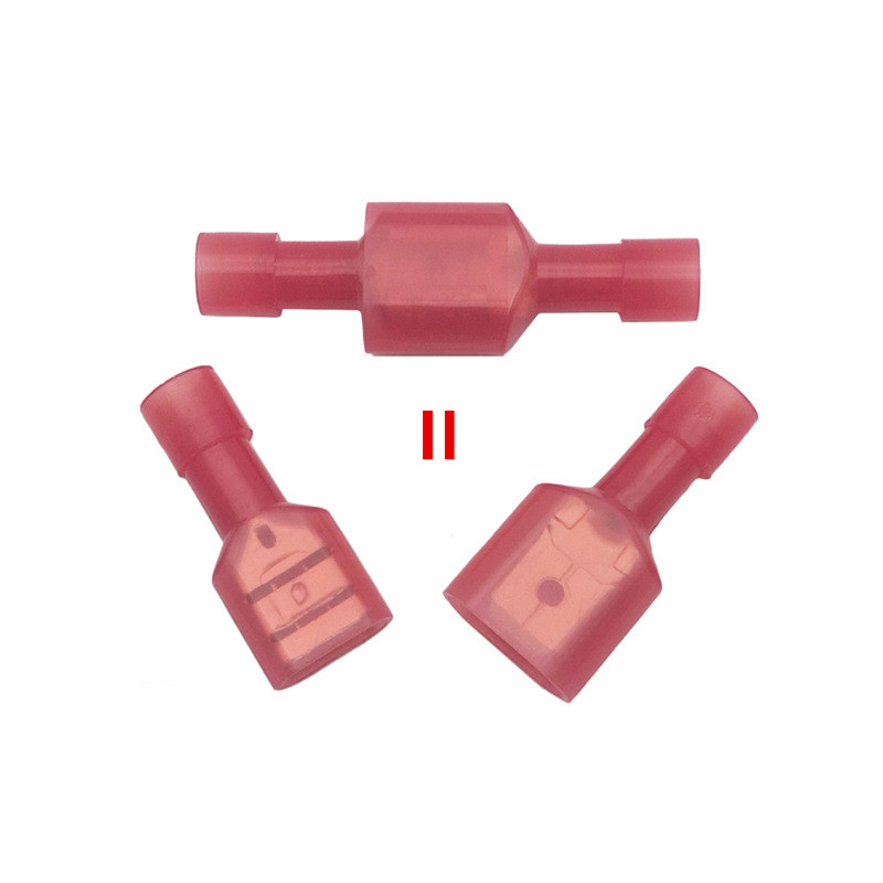 H03a091911822485aa043fc54f52a860aM - FDFN1.25-250 +MDFN 1.25-250 Red NYLON Male Female male electric wire connections Crimp Terminal Connectors