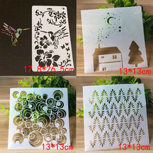 4pcs/set Stencils Bullet Journal Templates For Crafts DIY Painting Emboss Scrapbooking Album Drawing Stencil Reusable
