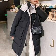 Зимнее длинное пальто 6 цветов Женская Повседневная пуховая