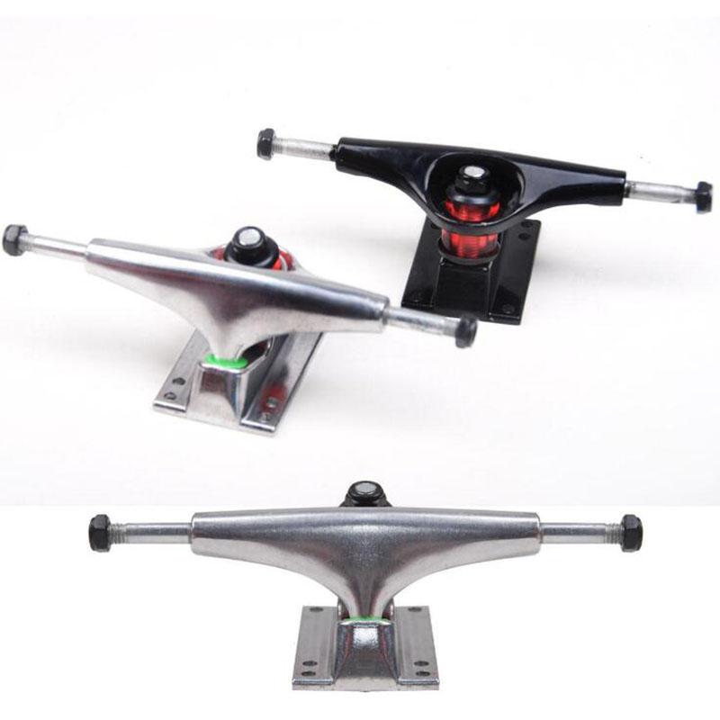 2Pcs Generic 7.8 Inch Skateboard Truck Bracket Four-Wheel Skateboard Bridge Alloy Longboard Bracket Skate Trucks Accessories