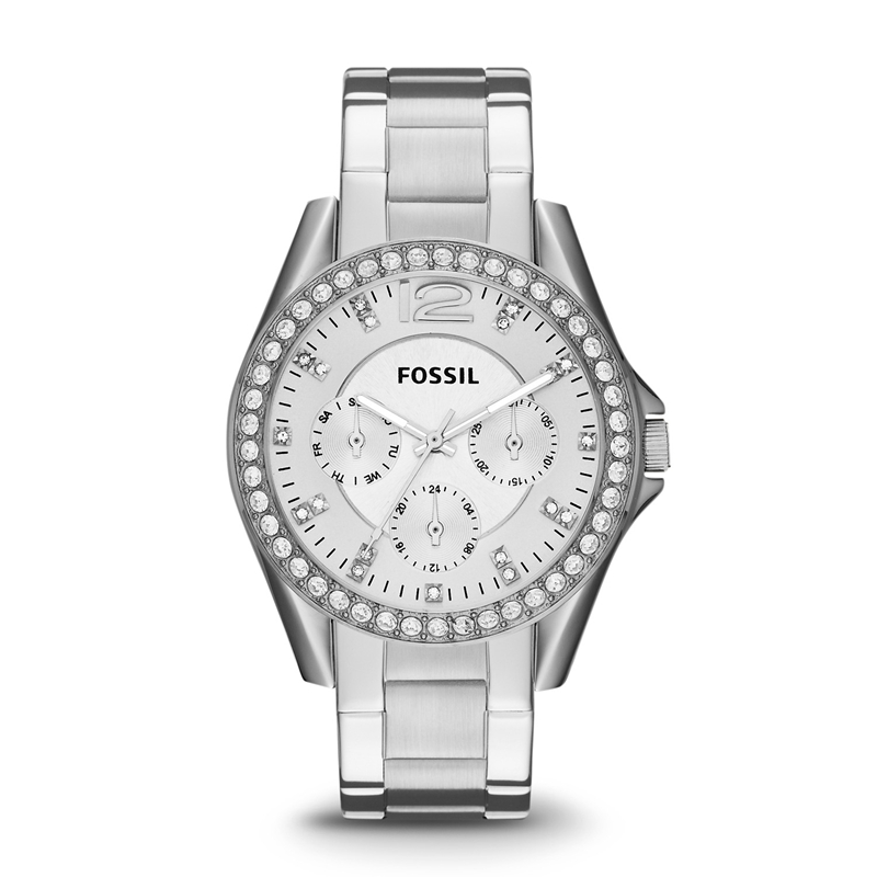 Fossil Women's Watches Riley Multifunction Stainless Steel Watch Luxury Brand Quartz Watches For Ladies ES3202