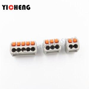 Image 4 - 50 sztuk box case uniwersalny kompaktowy przewód złącze do przewodów listwa zaciskowa z dźwignią 0.08 2.5mm2 złącze przewodu DIY