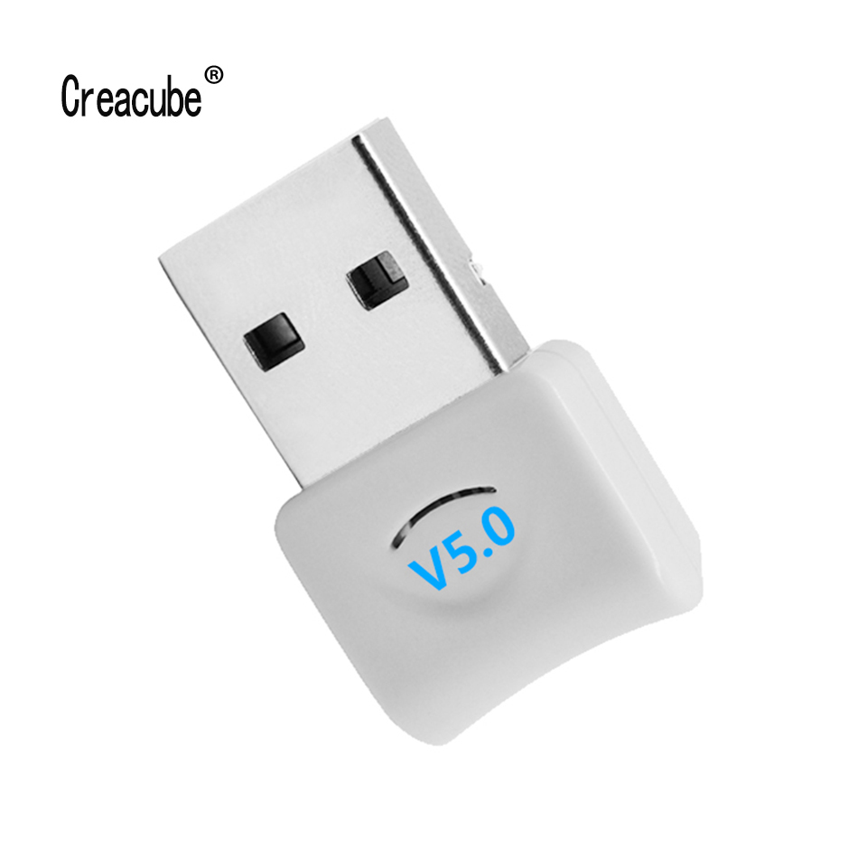 Creacube USB Bluetooth 5.0 V5.0 Wireless Bluetooth Dongle Adapter Music Receiver Bluetooth Transmitter For Win 10 PC