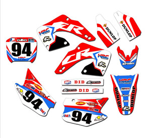 Motorcycle Team Graphics Decals Stickers For Honda CR250 CR125 2002 2003 2004 2005 2006 2007 2008 2009 2010 2011 2012 125CR 250