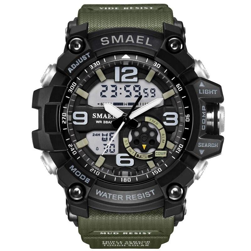 Мужские аналоговые и цифровые кварцевые часы SMAEL, спортивные наручные часы S Shock, 1617|Спортивные часы| | АлиЭкспресс