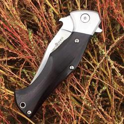 [Brat 1612 rogaty Viper] kieszonkowy nóż Fliper składane noże stalowe drewno hebanowe folder taktyczne narzędzie edc collection w Noże od Narzędzia na