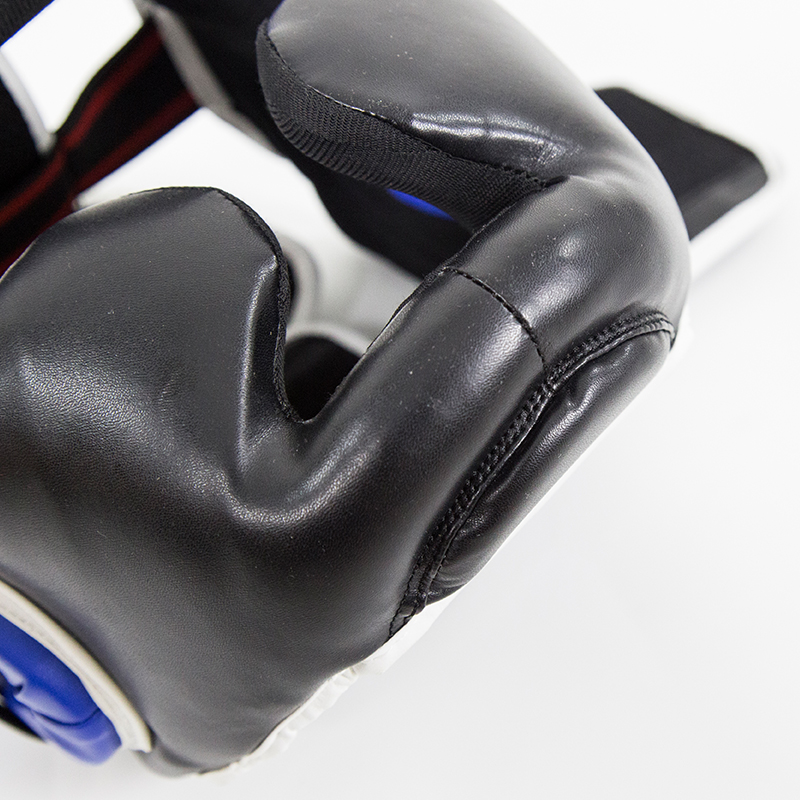 Crianças adultas sanda cabeça guarda boxe mma cabeça guarda dentes muay thai grosso treinamento de combate fullcover taekwondo cabeça guarda 6