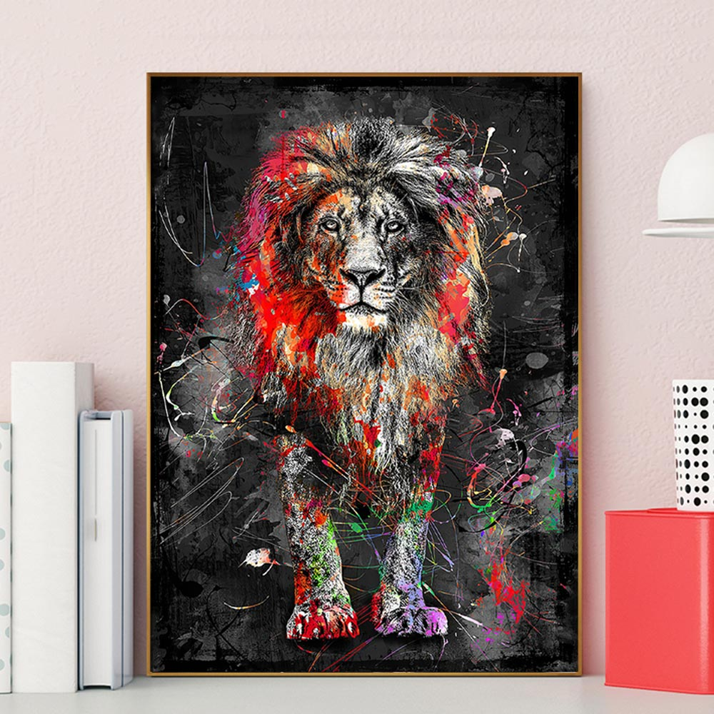 3501 Animal Poster LIONS HOME Photo Picture Poster Print Art A0 A1 A2 A3 A4