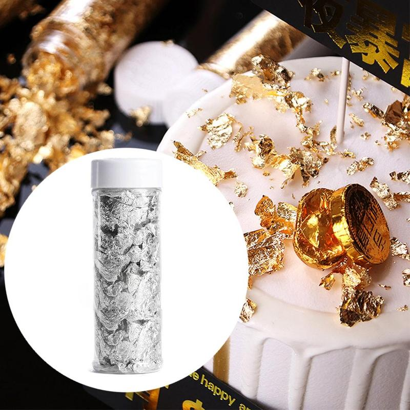 Canned Baking Sushi Mousse Cake Gold Foil Silver Foil Paper Crumb Baking Cake Gourmet West Point Decoration