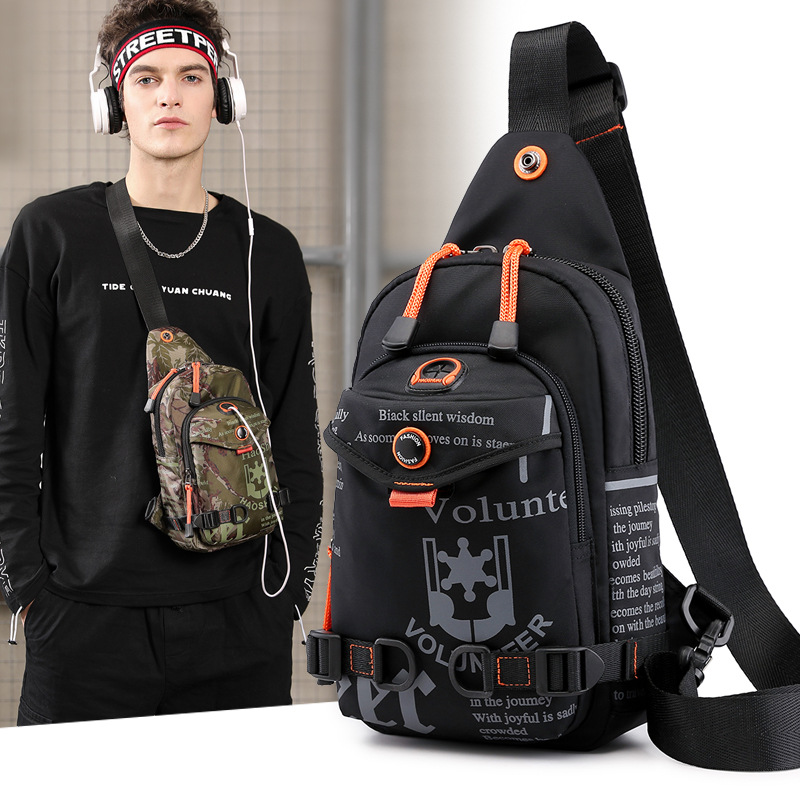 The New Trend Of The Wild Man Casual Polyester  Breast Package Outdoor Multifunctional Messenger Backpack Motion Shoulder Bag