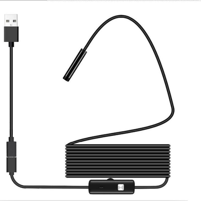 USB <font><b>Endoscope</b></font> Pipe Car Repair 480P Borescope Video <font><b>Flexible</b></font> Inspection <font><b>Camera</b></font> IP67 for Android PC Notebook Macbook <font><b>Phone</b></font> image
