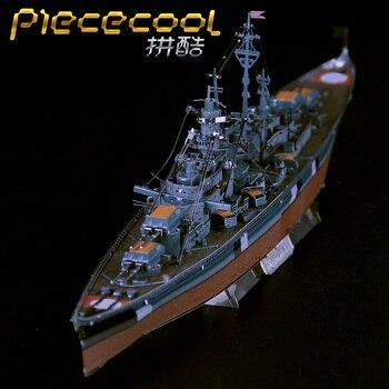 STEEL GOLEM 3D Metal Puzzle DIY Assembly Model 3D Laser Cut Model Puzzle Bismarckn Battleship Model Jigsaw Toys цена 2017