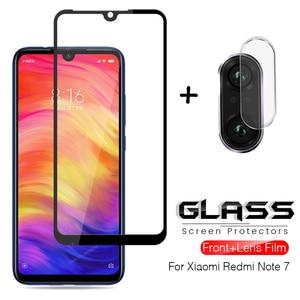 2-in-1 camera lens film on remi note7 protective glass for redmi note 7 xiaomi xiomi xaomi xiami hongmi note 7 not 7pro glasses