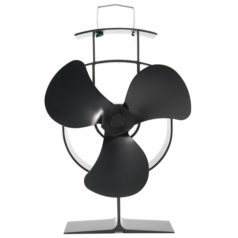 3 Blade Stove Top Fan Heat Powered Wood Burning Log Fire Burner Mini Stove Fan
