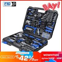 PROSTORMER-Juego de herramientas de mano para bricolaje, kit de herramientas para el hogar, conjunto de herramientas para carpintería, set de herramientas de reparación de automóviles, llave inglesa, destornillador de sierra, 198 uds.