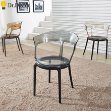Transparent PC Plastic Dining Chair Restaurant Suitable for Dining Chairs Modern Restaurant Office Home Bedroom PC Plastic Chair